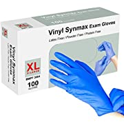 100Pcs Disposable Gloves, Squish Clear Vinyl Gloves Latex Free Powder-Free Glove Cleaning Health Gloves for Kitchen Cooking Cleaning Food Handling, X-Large