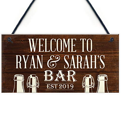 RED OCEAN PERSONALISED Bar Sign Garden Sign Shed Plaque Man Cave Sign Pub Club Landlord Gift Keepsake