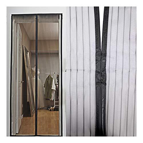 Fliegengitter Moskitonetz Insektenschutz für Türen durchgehende Magnetverschlüsse (zwischen den Hauptmagneten sind weitere Magnetstreifen eingenäht) 100 x 220 cm