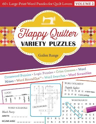Happy Quilter Variety Puzzles: 60+ Large-Print Word Puzzles for Quilt Lovers