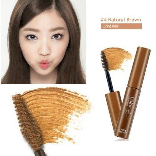 Étude HOUSE Couleur My Sourcils Sourcil Maquillage Gel Mise en forme Brosse Mascara Kit De Couleur - Marron Naturel №4, 9ml