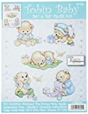 Tobin T21705 Baby Bears Quilt Stamped Cross Stitch Kit, 34 by 43-Inch