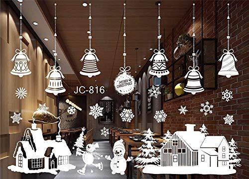 heekpek Navidad Santa Claus árbol de Navidad Salón Dormitorio Escaparate Extraíble Pegatinas de Pared Murales