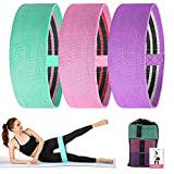 Resistance Bands Exercise Bands Skin-Friendly Premium Power Body Booty Bands Tension Stretch Elastic Workout Band Non Slip Design for Men and Women Legs Glutes Yoga, Pilates, Muscle (Set 3,Carry Bag)