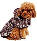 LeerKing Unisexe Imperméable pour Chien avec Capuche Chat Manteau Imperméable pour Chihuahua Bichon Cocker malinoi Teckel Labrador, Taille L