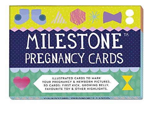 Milestone Erinnerungskarten für die Schwangerschaft (in englischer Sprache)