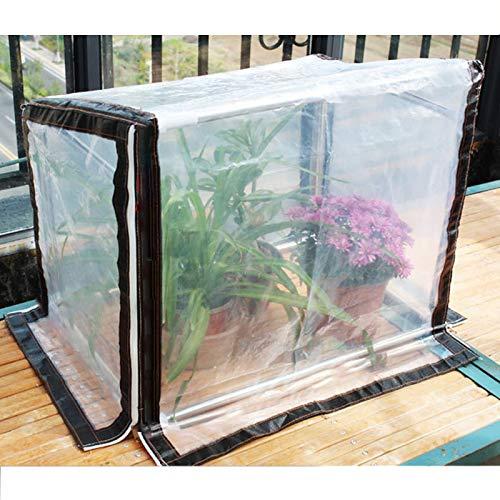 Gzhenh Invernadero Miniatura Cubierta De Invernadero Impermeable Mantener Caliente Puerta Enrollable con Cremallera Acero Inoxidable Marco Frío Invernadero De Tomate