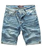 Rock Creek Herren Shorts Jeansshorts Denim Short Kurze Hose Herrenshorts Jeans Sommer Hose Stretch Bermuda Hose Hellblau RC-2201 Lightblue W33
