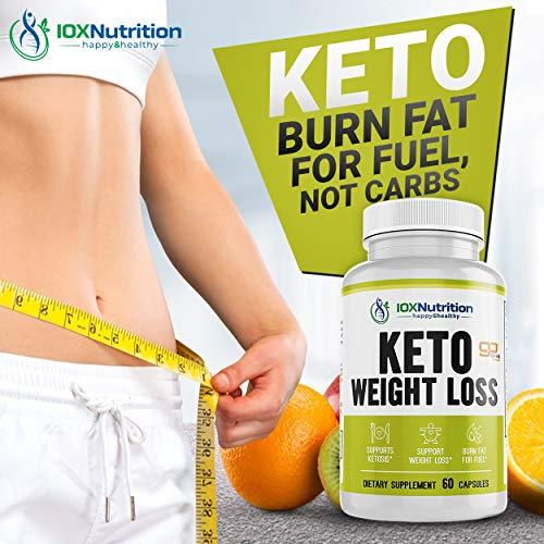 Keto Pills - Supports Keto Burn - Fast Ketosis Diet for Men and Women - Slim Formula with Advanced Keto Pill Capsules - Boost Keto Energy and Metabolism - Pure BHB Keto Pills - 60 Capsules 4