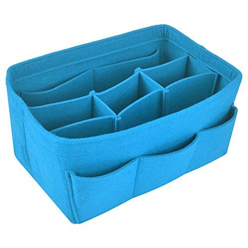 NOTAG Bag Organizer Filz Taschenorganizer, Multi Tasche Liner Organizer Passt Speedy Neverfull Für Handtasche, 4 Größe, 7 Farben (Blau, L)