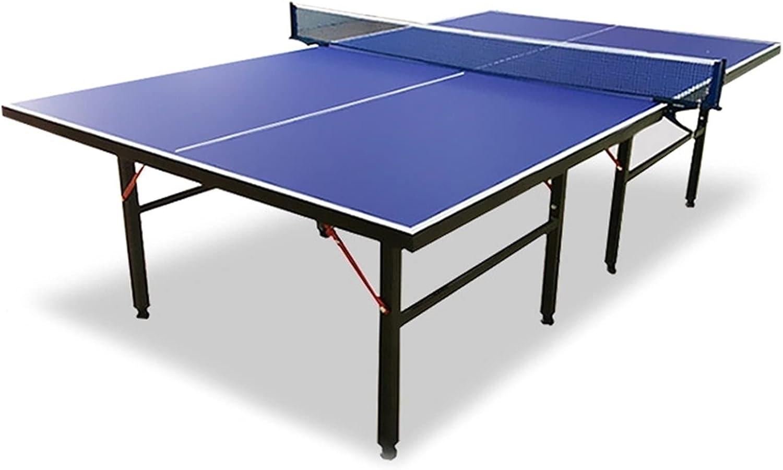 Mesa De Ping Pong Plegable, Mesa De Ping Pong Oficial para Interiores Y Exteriores, Mesa De Ping Pong para Niños/Adultos, 274x152.5x76cm