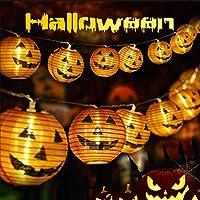 10-Pieces Qaxlry 3D Halloween Pumpkin Lantern Strings