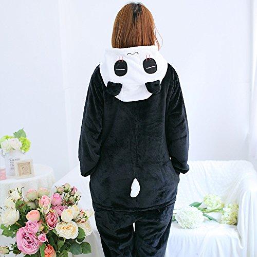 Katara 1744 – Panda Kostüm-Anzug Onesie/Jumpsuit Einteiler Body für Erwachsene Damen Herren als Pyjama oder Schlafanzug Unisex – viele verschiedene Tiere - 4