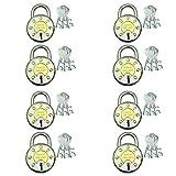 Ramson Steel Galaxy 65 MM 8 Levers Double Locking 3 Keys Padlock Pack of Eight