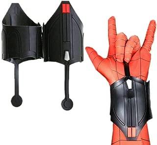 costeam Superhero SPM Web Launcher Cool Web Shooter Dart Blaster Halloween Web Cosplay Prop Dart Launcher Black (Normal (2 pcs))