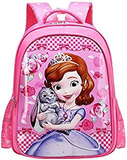 Kid's School Bag Mini Backpack Cute Cartoon Smooth Surface School Backpacks Bookbags for Children Girls (Pink)