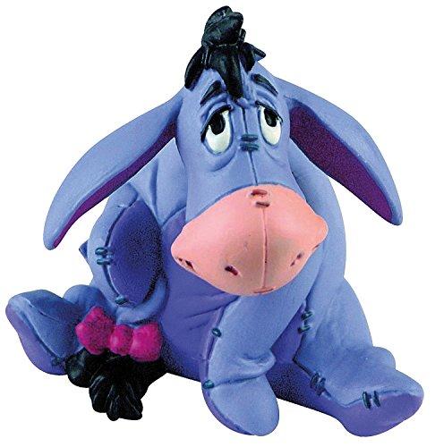 Bullyland 12343 - Spielfigur, Walt Disney Winnie Puuh, I Aah, ca. 5,5 cm groß, liebevoll handbemalte Figur, PVC-frei, tolles Geschenk für Jungen und Mädchen zum fantasievollen Spielen