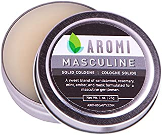 Masculine Solid Cologne | Men's Fragrance Vegan, Cruelty-free, Musk | 1 ounce