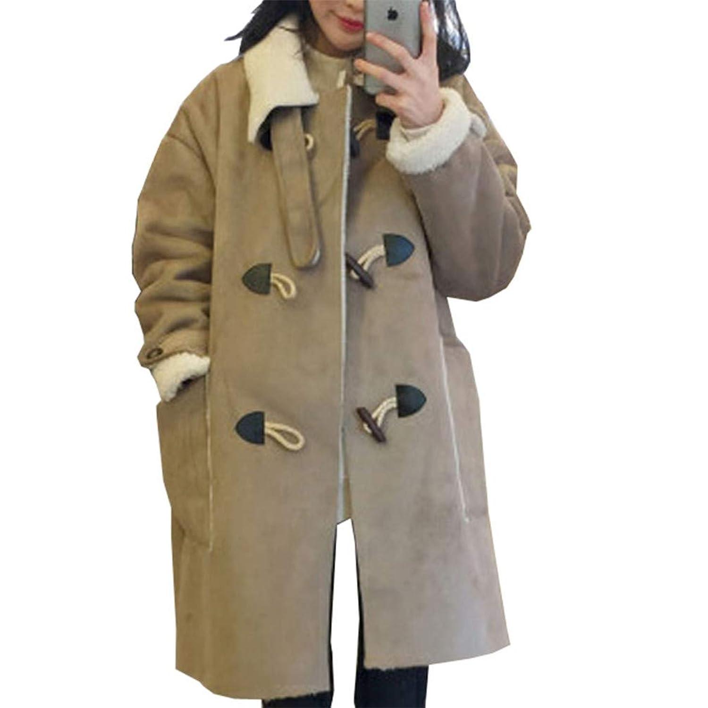 [美しいです] レディース コート スエード 折り襟 防寒 防風 ロング丈 カジュアル 保温性 軽量 ゆったり 冬服  ムートンコート