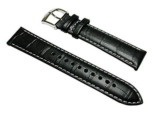 【セイコー】SEIKO 時計バンド L01K012J0 メンズ 20mm 牛革 ワニ型押し