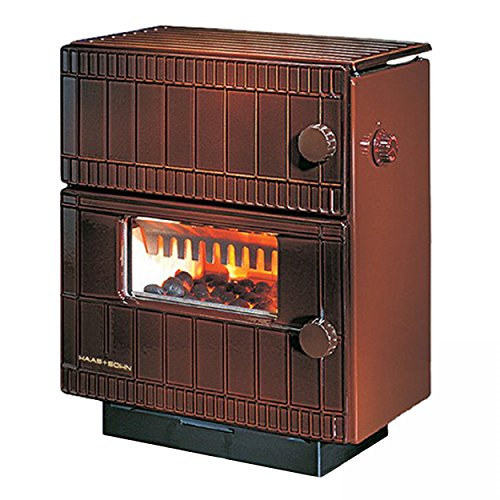 Dauerbrandofen HSDB 1.0 Typ 130.15 Majolika-Braun, Kohleofen 7 kW