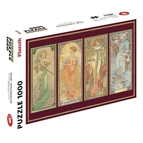 Piatnik 557644 Klimt Die Jungfrau, 1.000 Teile, Metallic