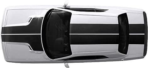 Factory Crafts Dodge Challenger 2008-2013 T-Hood ROOF Trunk Stripes Graphics Kit 3M Vinyl Decal Wrap - Matte Black