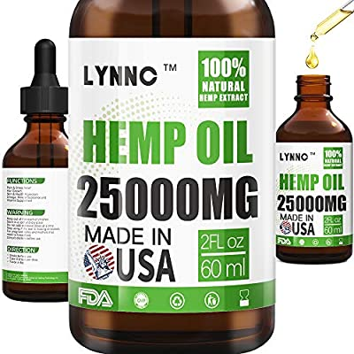 LYNNC Hemp Oil for Anxiety Relief - 25000 MG - ...