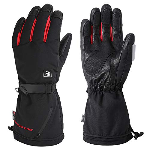 Venustas [2020 Upgrade] Heated Gloves for Men and Women, Rechargeable Heated Gloves and Winter Gloves ski Gloves Heat up to 8 Hours