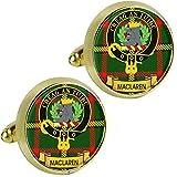 I Luv LTD Maclaren Clan Escocés Cresta de los Hombres Gemelos en Color Dorado Producto de Escocia