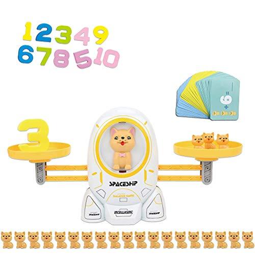 HEITIGN Juego Balance Juguete, Juego de matemáticas, Juguete de mesa, Gatito espacial y juego de cachorros, Balance proporcional, Juego de equilibrio, Juguetes educativos para niños