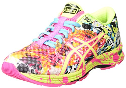 ASICS - Gel-noosa Tri 11, Zapatillas de Running Mujer, Rosa (hot Pink/flash Yellow/black 3407), 37.5 EU