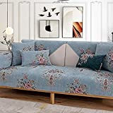 Fsogasilttlv Cubierta de Asiento Sofá Doméstico Gris Azul,...