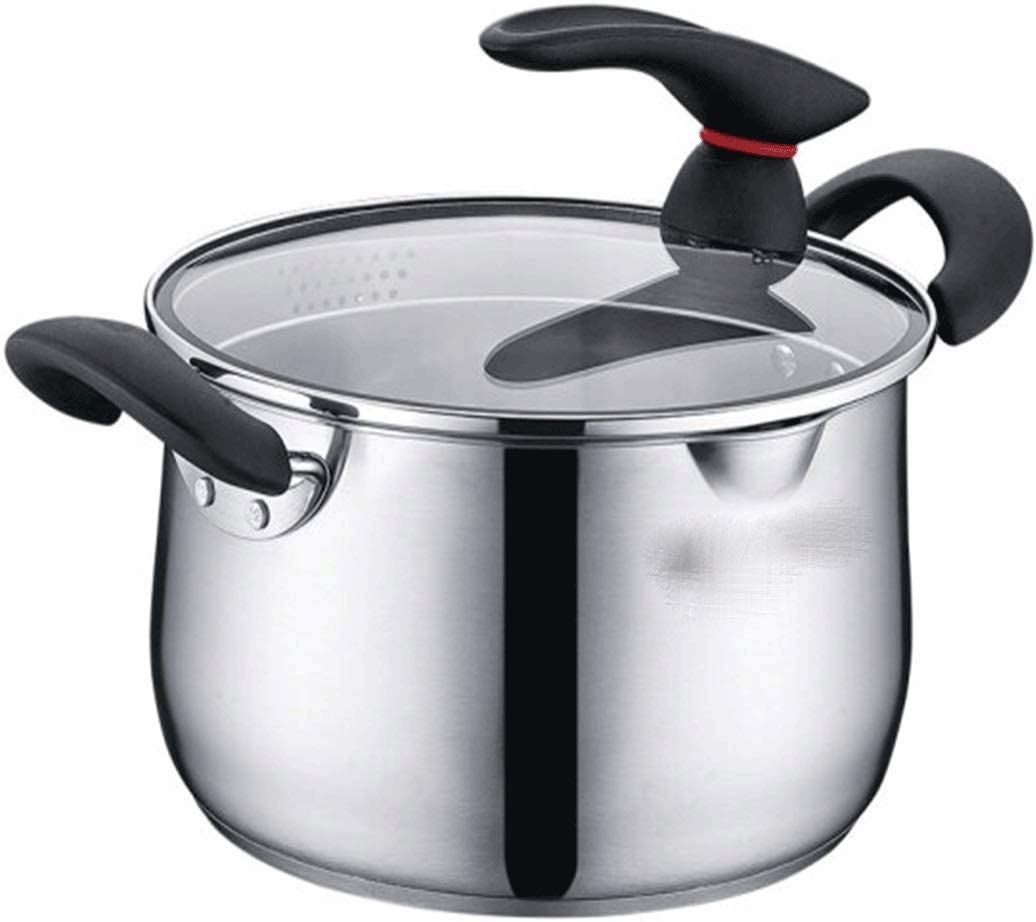 UXZDX outlet Stock Pot Stainless Free Shipping Cheap Bargain Gift Steel Lid for with Stockpot Soup