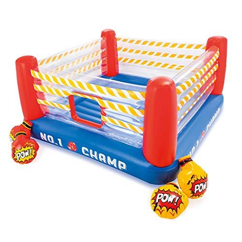 Ring De Boxeo Inflable Trampolín De Boxeo con Barandilla Castillo Inflable Plegable Forma De Anillo, Deja Que Los Niños Se Enamoren De Los Deportes (Color : As Shown, Size : 226 * 226 * 110cm)