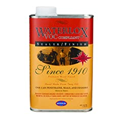 Penetrates and waterproofs when used as a finishing system in multiple coats on it's own or in conjunction with Waterlox Original Satin Finish or Waterlox Original High Gloss Finish Forms a protective yet elastic finish against common household spill...