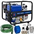 BILT HARD 2 in. Semi-Trash Water Pump, 158 GPM 212cc Gas Powered Water Transfer Pump with Hose Kit - EPA Certification
