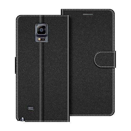 COODIO Handyhülle für Samsung Galaxy Note 4 Handy Hülle, Samsung Galaxy Note 4 Hülle Leder Handytasche für Samsung Galaxy Note 4 Klapphülle Tasche, Schwarz