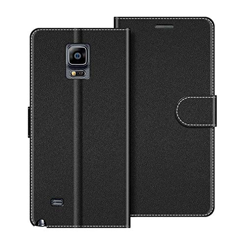 COODIO Funda Samsung Galaxy Note 4 con Tapa, Funda Movil Samsung Note 4, Funda Libro Galaxy Note 4 Carcasa Magnético Funda para Samsung Galaxy Note 4, Negro