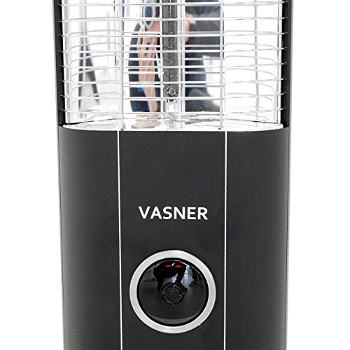 VASNER StandLine 25R Infrarot Standheizstrahler 2500 Watt mit Abdeckhaube, Fernbedienung, Thermostat, Carbon Standstrahler – schwarz - 6
