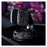 Sun Can 3車のダッシュボードのための1 360度の車の電話ホルダーの車のダッシュボードの自動窓とエアベントBMWのためのDIYクリスタルダイヤモンドタイプフィット (Color : Black 1 Pcs)
