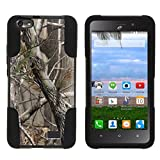 MINITURTLE Compatible with Huawei Raven LTE Case, Raven Stand Case [Strike Impact] Double Layered Hybrid Fusion Stand Case Nature's Tree Camo