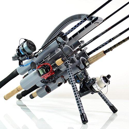 Rod-Runner Fishing Rod Rack   PRO 5 Portable Rod Holder   Gray