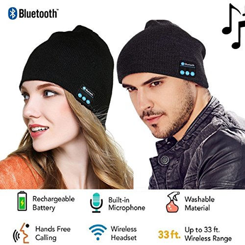 Berretto Bluetooth per ascoltare musica, connessione Wireless, per sport e corsa