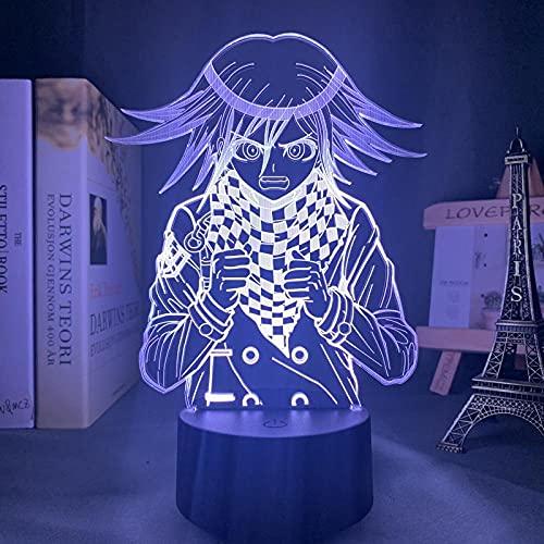Lámpara de noche 3D Anime LED luz nocturna Danganronpa V3 Harmonie Kokichi OMA para dormitorio decoración de niños regalo Kokichi OMA habitación 3D lámpara mesita de noche ZMSY