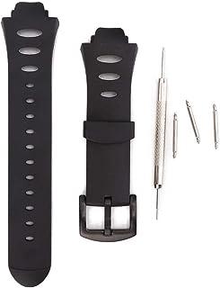 Bracelets de montre en silicone, bracelet de montre en cuir, bracelet de montre de remplacement, bracelet de montre en cao...