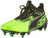 Puma - One 19.1 MX SG, Zapatillas de Fútbol Hombre, Verde (Green Gecko-Puma Black-Charcoal Gray 02), 42 EU