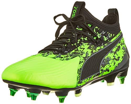 Puma One 19.1 MX SG, Scarpe da Calcio Uomo, Verde (Green Gecko Black-Charcoal Gray), 44.5 EU