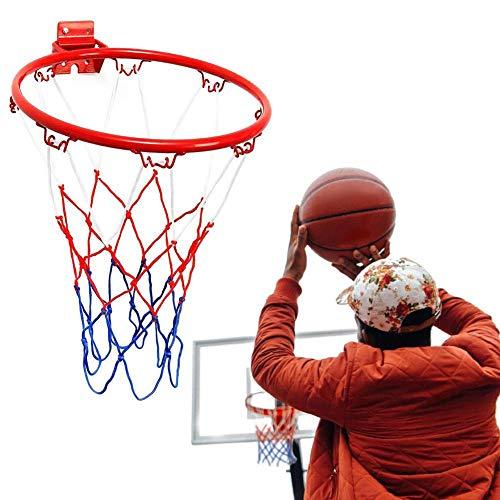 TYX-SS Basketballkorb-Netz Der Wand Befestigter Mit Schraube, Basketball Rim, 32CM Basketball Netball Für Indoor Outdoor Sport