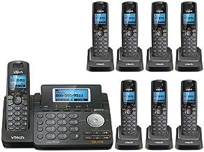 VTech DS6151-11 DECT 6.0 2-Line Expandable Cordless Phone + (7) DS6101-11 Accessory Handset, Black photo